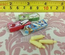Dollhouse Miniature Food Japanese Style Ice cream Stick 3pcs w/ Boxes Scale 1:12