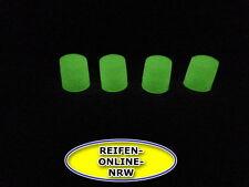 4x Ventilkappen Reifenventilkappen  Kunststoff WEISS-FLOURESZIEREND