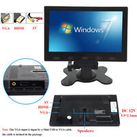 HD 7'' Ultra Thin TFT LCD Color HD Monitor Audio Video HDMI VGA Input w/ Speaker