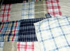 NAUTICA twin quilt CAMBRIDGE MADRAS PATCHWORK plaid bedspread blanket 2 availble