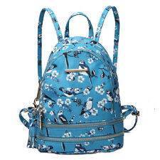 Cute Sequin/Birds PU Leather Girls Small Backpack School Shoulder Bag Rucksack