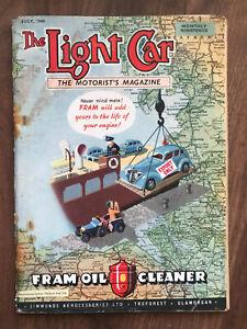 The Light Car Magazine July 1948 Fram front cover