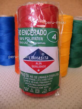 8 CONES x 170 mts WAXED THREAD for MACRAME- PICK YOUR COLORS - LINHASITA