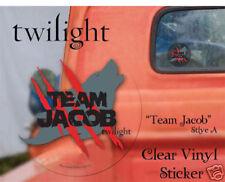 TWILIGHT Team Jacob Clear Vinyl Transfer Cat Sticker NEW