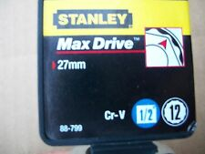 NEW STANLEY 1/2 in Drive 27 mm MAX DRIVE 12 POINT SOCKET