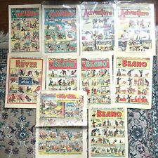 1950 NEWSPAPER COMICS from Great Britain BEANO, ADVENTURE, THE ROVER, THE DANDY