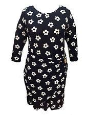 Viscose 3/4 Sleeve Everyday Wrap Dresses