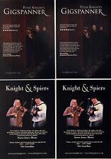 PETER KNIGHT ( steeleye span ) FLYERS X 4 - GIGSPANNER JOHN SPIERS