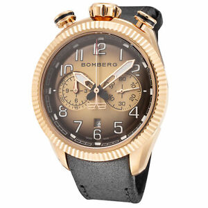 Bomberg Men's NS44CHPPK-202-9 BB-68 Vintage 44mm Gold Dial Watch