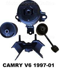 9R1228 4pc Motor Mounts w/Rear Insert fit A/T 3.0 1997 - 2001 Toyota Camry ES300