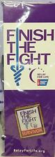 Relay for Life Survivor Lapel Pin Collector Finish The Fight Cancer Awareness