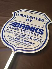 PROTECTED BY BRINKS HOME SECURITY THEFT / BREAK IN PREVENTION SIGN