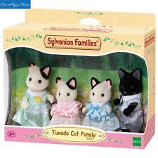 Sylvanian Families 5181 Tuxedo Katzen Familie Schwarzohr Epoch Neu OVP
