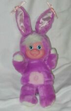 Mattel Magic Nursery Pet Vintage 1990 Bunny Rabbit Puppy Plush Toy Purple 11""
