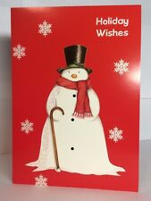 Set of 8 Cards & 8 Envelopes Sparkle Snowman Holiday Wishes Greeting & New Year