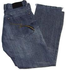 Fusai Mens Size 30x30 Med Wash Denim Blue Jeans Boot Cut