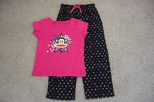 Girl's (Size M) Dark Pink & Black Pajamas by Paul Frank