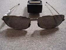 Folding Compact Metal Folding Sunglasses with Faux Leather Case 100% UVA/UVB