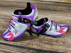DIADORA X-Tornado Cycling MTB Shoes Mountain Bike Boots 2 Bolts Ladies EU38 US7