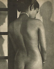 Vintage Lionel Wendt Asian Female Nude Model Back Photogravure Photo Print