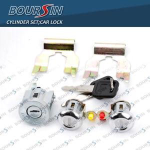 Lock Cylinder Set With Key For Isuzu NPR NQR NKR ELF 1994-07 W/ Clips