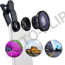 Uni 3in1 Clip Lens Kit Angle Fish Eye Macro Fit All iPhone Samsung Gift Box