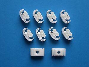 10x Bremsleitung Clip Klammer Halter doppelt Halteklammern Opel VW Audi BMW