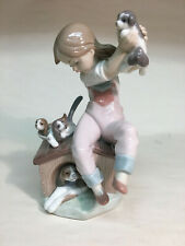 "collectible vintage porcelain figurines Lladro #7621 ""Pick Of The Litter"" puppy"