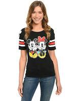 Mickey & Minnie Mouse Junior Tee T-shirt Disney Cotton Black