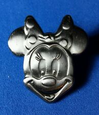 Minnie Mouse Silver Sclupt Head Disney Monogram Pin
