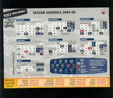 2004-05 Grand Rapids Griffins AHL Detroit Red Wings team issued magnet schedule