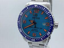 DEEP BLUE ALPHA MARINE 500 45MM AUTOMATIC CERAMIC BEZEL BLUE ORANGE DIAL WATCH