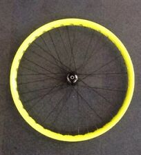 "Try-All 24Tour 26"" Neon Yellow Complete Front Wheel Non Disc Hub On Disc Rim New"