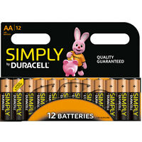 12 x SIMPLY DURACELL AA MN1500 LR6 Batteries 1.5V ALKALINE   1 pack 12