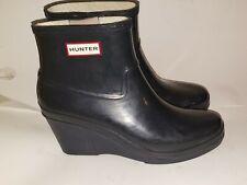 Hunter Aston Short Ankle Rain Boot Wellies Waterproof Dark Navy Blue 9M /10F