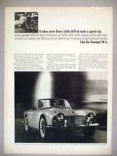 Triumph TR-4 Sports Car PRINT AD - 1963
