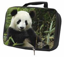 Beautiful Panda Bear Black Insulated School Lunch Box Bag, ABP-1LBB