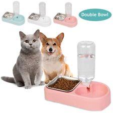 Automatic Pet Dog Bunny Cat Food Water Dispenser Dish Bowl Feeder Drinki