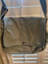 Lacoste Men's  Laptop/work Crossover Nylon Bag Light Military Green