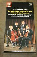 Tchaikovsky String Quartets Nos.1-3 Souvenir de Florence Borodin 2 cassettes