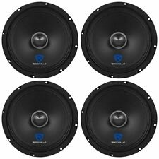 """(4) Rockville RXM84 8"""" 500w 4 Ohm Mid-Range Drivers Car Speakers, FREE SHIPPING"""