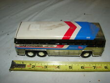 VINTAGE TIN TRUCK TOY GREYHOUND BUS 1979 BUDDY L 7 1/2 INCHES LONG RESTORE