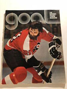 1974 Goal NHL Magazine PITTSBURGH PENGUINS vs PHILADELPHIA FLYERS Program FLETT