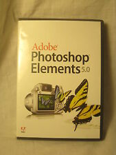 Adobe Photoshop® Elements 5.0 Windows XP w/ serial # digital photography
