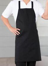 "Bib Apron Food Service Deli Full Length 100% Polyester Black 33"" x 28"" 2 Count"