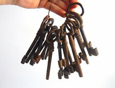 Antique French Keys Group of 18 Rusty Keys