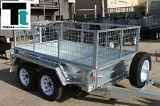8x5  H/DUTY Galvanised Tandem Trailer with  2'FT cage