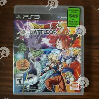 DRAGONBALL Z BATTLE OF Z   ( Playstation 3 PS3  ) Tested