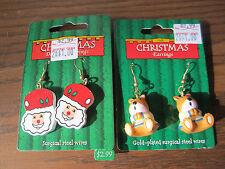 Christmas Wholesale Lot Of 100+ Sets of Santa Claus & Christmas Bears Earrings