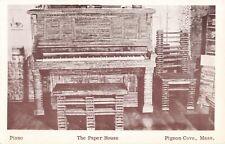Postcard The Paper House Piano Pigeon Cove Massachusetts